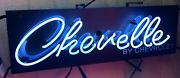 Chevelle By Chevrolet Neon Sign / Chevy Neons / Chevelle Signs Gas And Oil