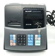 Sharp Xe-a106 Electric Cash Register With 2 Keys And All Manuels Included