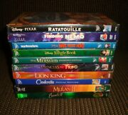 10 Disney Animated Movie Dvd Lot - Lion King/nemo/jungle Book/bambi Ii And More