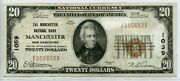 Fr. 1802-1 1929 Ty. 1 20 Ch 1059 Natl' Bk Note Manchester, New Hampshire 15