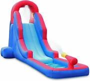 Deluxe Inflatable Water Slide Park Andndash Heavy-duty Nylon For Outdoor Fun - Climbin