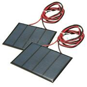 2pcs Solar Panel Cell Module Epoxy Charger For Charging Cellphones Dc Batteries
