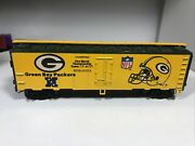 Mantua Ho Scale Green Bay Packers Nfl Express 40' Reefer Train Boxcar