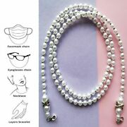 Pearl Mask Chain Face Retainer Chain Beads Holder Glass Non Slip Womenand039s Jewelry