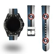 Marvel Captain Hero Watch Band For Samsung Galaxy Watch3 41/45mm Gear S3 Active