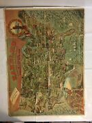 Rambles Through Our Country Andhellip A Spectacular Pictorial Map Of The United States
