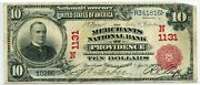 Fr. 613 1902 Rs 10 Ch 1131 National Bank Note Providence Rhode Island 15