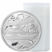 Roll Of 20 Private Mint 1 Oz Silver Round Wallstreetbets And Gamestonk Gem Bu