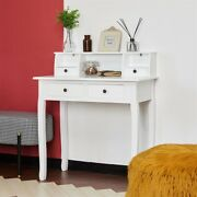 Computer Desk Secretary Table Writing Table With Detachable Tabletop Organizer