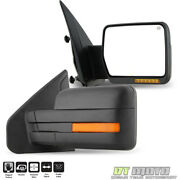 Left+right 2007-2014 Ford F150 Power Heated+led Signal+puddle Light View Mirrors