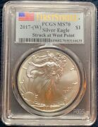 2017-w Pcgs American Silver Eagle Burnished Sp70 First Strike