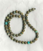 Extremely Rare - Nevada Carico Lake Turquoise 8mm Round Beads-18 Strand - 534d