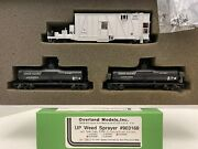 Brass H0 Overland Models Omi-1304.2 Up Weed Sprayer W/2 Tank Cars Union Pacific
