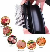Meat Tenderizer With 48 Stainless Steel Ultra Sharp Needle Blades Bbq Tool