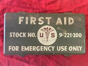 1947-1950 Usa First Aid Kit Stock No. 9-221-200