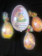 Collectible Easter 1970andrsquos/80andrsquos Fill And Thrill Plastic Eggs Fun 1 Large/3 Small