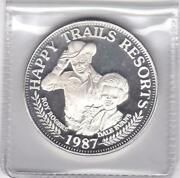 1987 Roy Rogers And Dale Happy Trails Resorts 1 Tr Oz .999 Silver Art Round