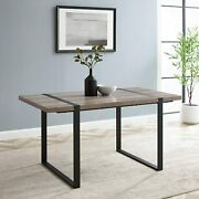 Industrial 4 Person Dining Table Wood Home Office Desk Living Room Furniture