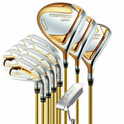 Real Honma S-07 4 Star Golf Complete Clubs Set 10.5 R Flex Graphite Shaft Cover