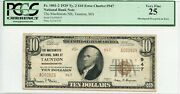Fr. 1801-2 1929 Ty.2 10 Error Ch 947 National Bank Note Pcgs 25 Vf 3000 6/27