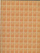 Mexico Mint 260 Og Nh Sheet Of 100 Usual Separations