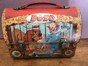 Rare Vintage 1963 Bozo The Clown Metal Dome Lunchbox With Thermos By Aladdin Usa