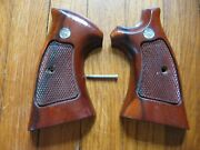 Smith And Wesson N Frame Revolver Wood Target Grips Model 24 25 27 28 29 57 58