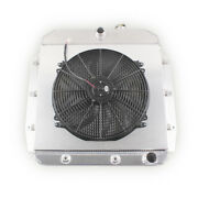 3 Row Radiator And Shroud Fan For 1955-1959 Chevy Apache Truck Gmc 100 150 Pickup