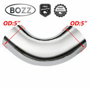 5 5 Inch Od Chrome 90 Degree Short Radius Elbow Exhaust Pipe - 11 Arms Length