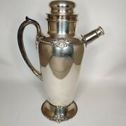 Vintage Large Silver Plate Cocktail/gin Shaker Community Plate Georgian