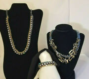 Juicy Couture War Of Love Ribbon And Chain Set - 2 Necklaces And 1 Bracelet
