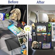 Car Seat Back Storage Bag Protective Cover For Children Baby Kick Mat Protector