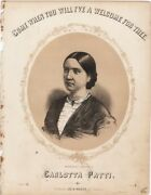 Come When You Will I've A Welcome For Thee, 1860, Antique Sheet Music