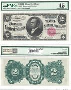 1891 2 Silver Certificate Pmg Choice Extremely Fine-45