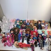 Huge Lot Of 26 Lol Omg 10andrdquo Dolls 34 Lol Surprise Pets Stands Accessories