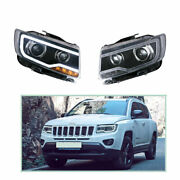 Headlight Assembly For Jeep Compass 2011-2017 Hid Xenon Beam Projector Led Drl
