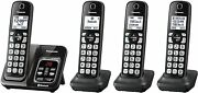 Panasonic Link2cell Bluetooth Cordless Phone 5 Handsets Silver Kx-tgd564m New