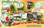 Greetings From Camp Crowder Missouri Military Vintage Large Letter Postcard