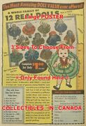 12 Real Dolls 1956 Plastic House Of Dolls N.y.=poster Comic Book 3 Sizes 17-19
