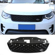For Land Rover Discovery 5 17-20 Black Front Center Mesh Grille Grill Cover Trim