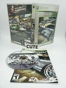 Need For Speed Most Wanted Microsoft Xbox 360, 2005 Platinum Hits Disc Tested