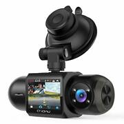 Uber Dual 1080p Fhd Built-in Gps Wi-fi Dash Cam, Front And Inside Car Camera