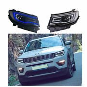 Headlight Assembly For Jeep Compass 2018-2020 Hid Xenon Beam Projector Led Drl