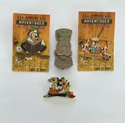 Lot Of 4 Pins- Animal Kingdom Adventures In Pin Trading- Goofy-rare-2004