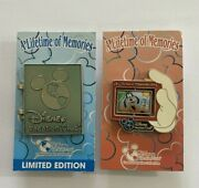 Disney Vacation Club A Lifetime Of Memories 2013 Lot Of 2 Pins Goofy Chip And Dale