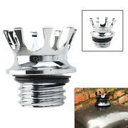 Chrome King Crown Gas Tank Oil Cap Right-hand Thread Fits For Harley Sportster