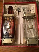 Vintage Rare Set Of Swiss Harmony Musical Decanters
