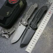 Rare Hypocenter1 Heavy Folding Knife Titanium Handle M390 Blade Camping Tactical