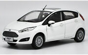 Diecast Model Car 118 Ford Fiesta 2013 White Hatchback Alloy Toy Gifts