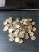 90 Silver Us Roosevelt Dimes 9 Face Value 90 Coins Before 1965.